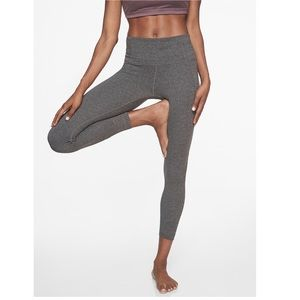 NEW Athleta Salutation 7/8 tight grey